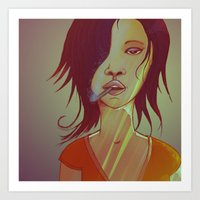 smoking Art Prints featuring Smoking by IOSQ