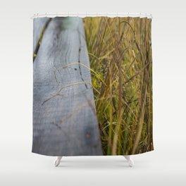Wet Wood Shower Curtain