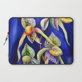 Orchid -  The Paphiopedilum , known as Lady's Slipper Laptop Sleeve