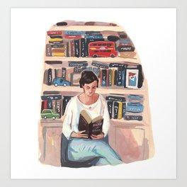 Maria Reading Art Print