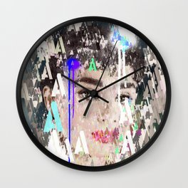 Audrey Type Abstract Art Wall Clock
