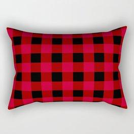 Red and Black Buffalo Check Rectangular Pillow