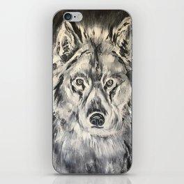 Crazy Eyed Wolf iPhone Skin