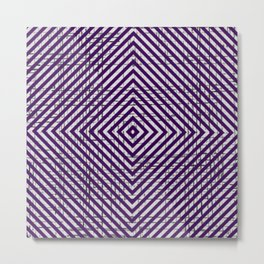 The System - Purple Metal Print