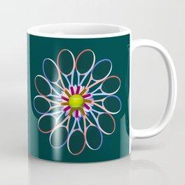Tennis racquet daisy 1 Coffee Mug