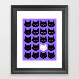 Cats Purple Framed Art Print