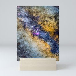 The Milky Way and constellations Scorpius, Sagittarius and the super big red star Antares. Mini Art Print