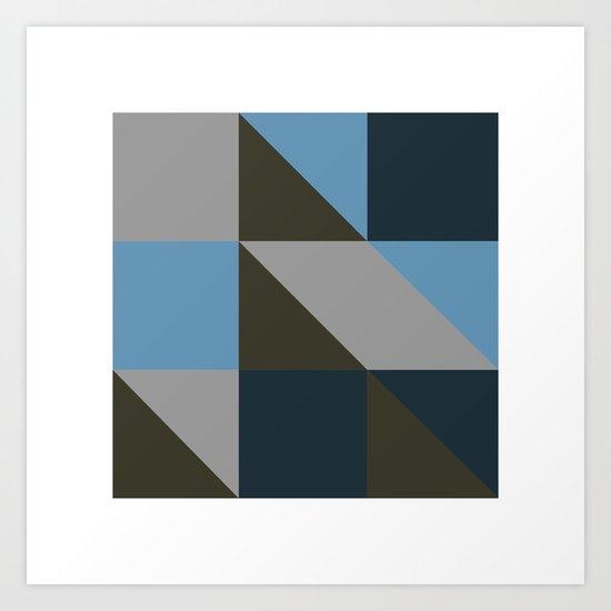 #149 United shapes of geometry – Geometry Daily Art Print