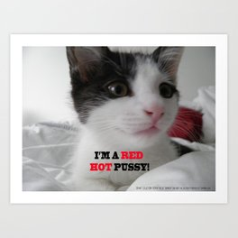 Sophia The Cat #1 [Tex's Owner] Art Print