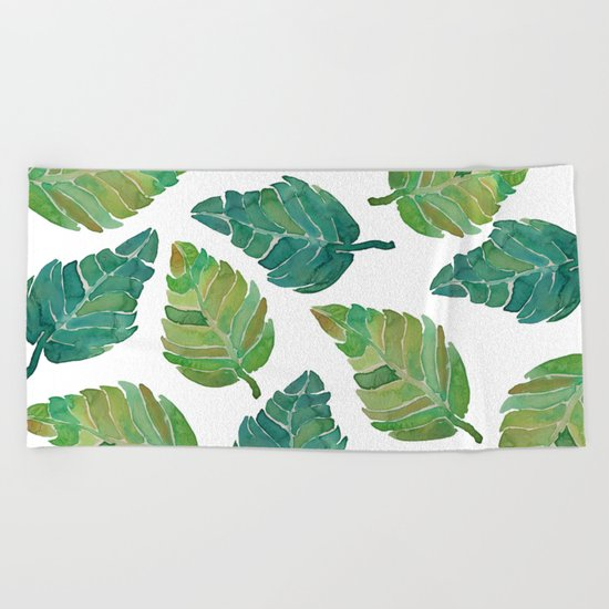 Jungle Leaves Beach Towel