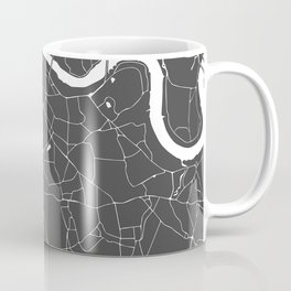 Gray on White London Street Map Coffee Mug