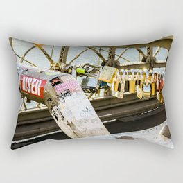 Love Locked in Brooklyn Rectangular Pillow