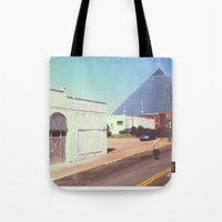 memphis Tote Bags featuring Memphis by lizzy gray kitchens