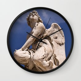 WHITE ANGEL of Sicily Wall Clock