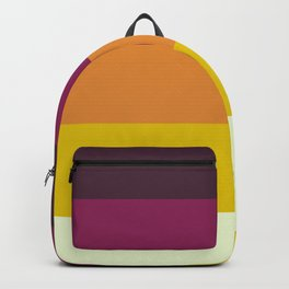 Classic 70s Retro Stripes Backpack
