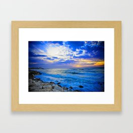 Tel Aviv Beach Sunset Framed Art Print