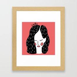 Dreamer girl Framed Art Print