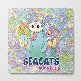 Seacats Monsters Series Metal Print