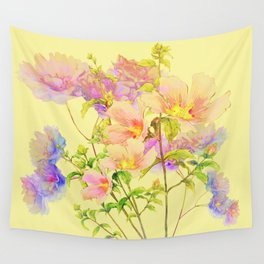 soft pastel floral Wall Tapestry