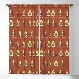 Warrior II  Avocado Yoga Blackout Curtain