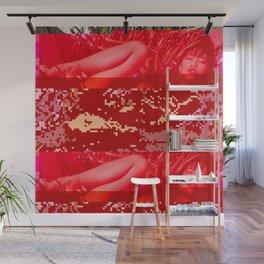 hot summer glitch Wall Mural