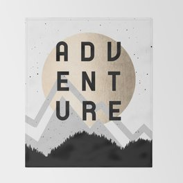 Adventure Golden Sunrise Throw Blanket