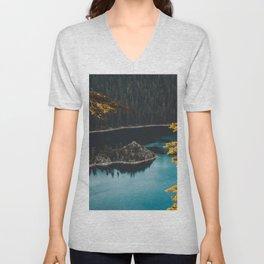Autumn Lake Unisex V-Neck