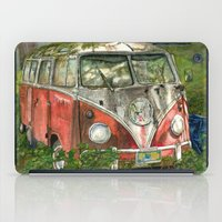 vw bus iPad Cases featuring VW Bus in the Woods by Barb Laskey Studio