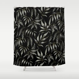 Brooklyn Forest - Black Shower Curtain
