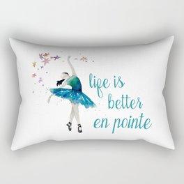 Life is better when you dance Rectangular Pillow