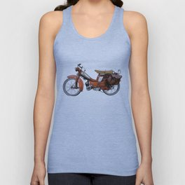 Vintage French Moped Unisex Tanktop