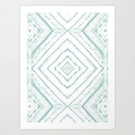 Dye Dash Diamond Sea Salt Art Print