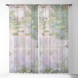 Claude Monet - Water Lilies Sheer Curtain