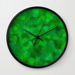 Fresh Bright Moss Green Abstract Wall Clock