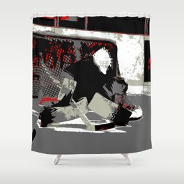 Goal Stopper - Ice Hockey Goalie Shower Curtain