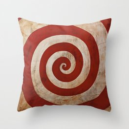 Sideshow Carnival Spiral Throw Pillow