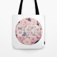 matty healy Tote Bags featuring Matt Healy Quote by Samantha