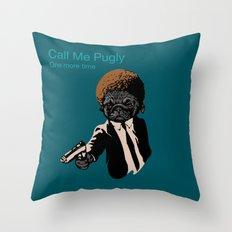 Pugly Throw Pillow