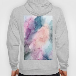 Dark and Pastel Ethereal- Original Fluid Art Painting Hoody