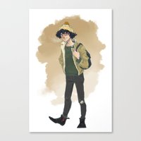 grantaire Canvas Prints featuring Grantaire  by icarusdrunk