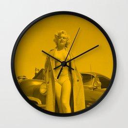 Marlyn Monroe - Bikini Pose Wall Clock
