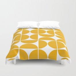 Mid Century Modern Geometric 04 Yellow Duvet Cover