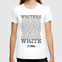 WRITERS WRITE! MEDIUM Womens Fitted Tee White
