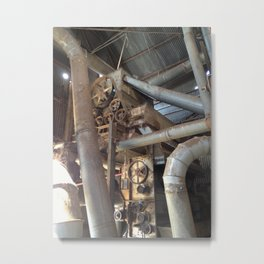 Cotton Gin Belts, Gears, and Wheels Metal Print