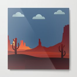 Southwestern Scene Metal Print