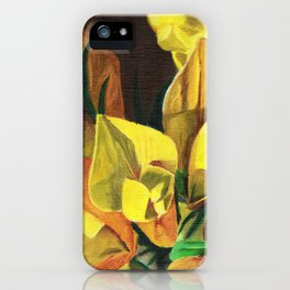 Golden Gorse Flowers iPhone Case