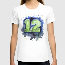 12th Man Seahawks Seattle Go Hawks Art T-shirt