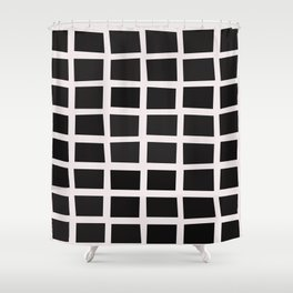 SQUARE.Grid Shower Curtain