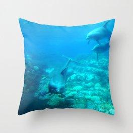 Under SeaWorld Throw Pillow
