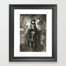 TDKR-catwoman Framed Art Print